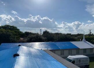 shrink wrap roof