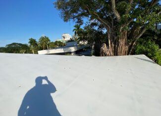 Roof damage from storms in south florida