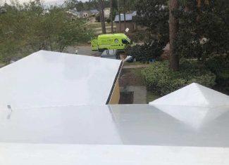 white roof shrink wrap