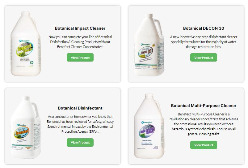 fire restoration cleaning products